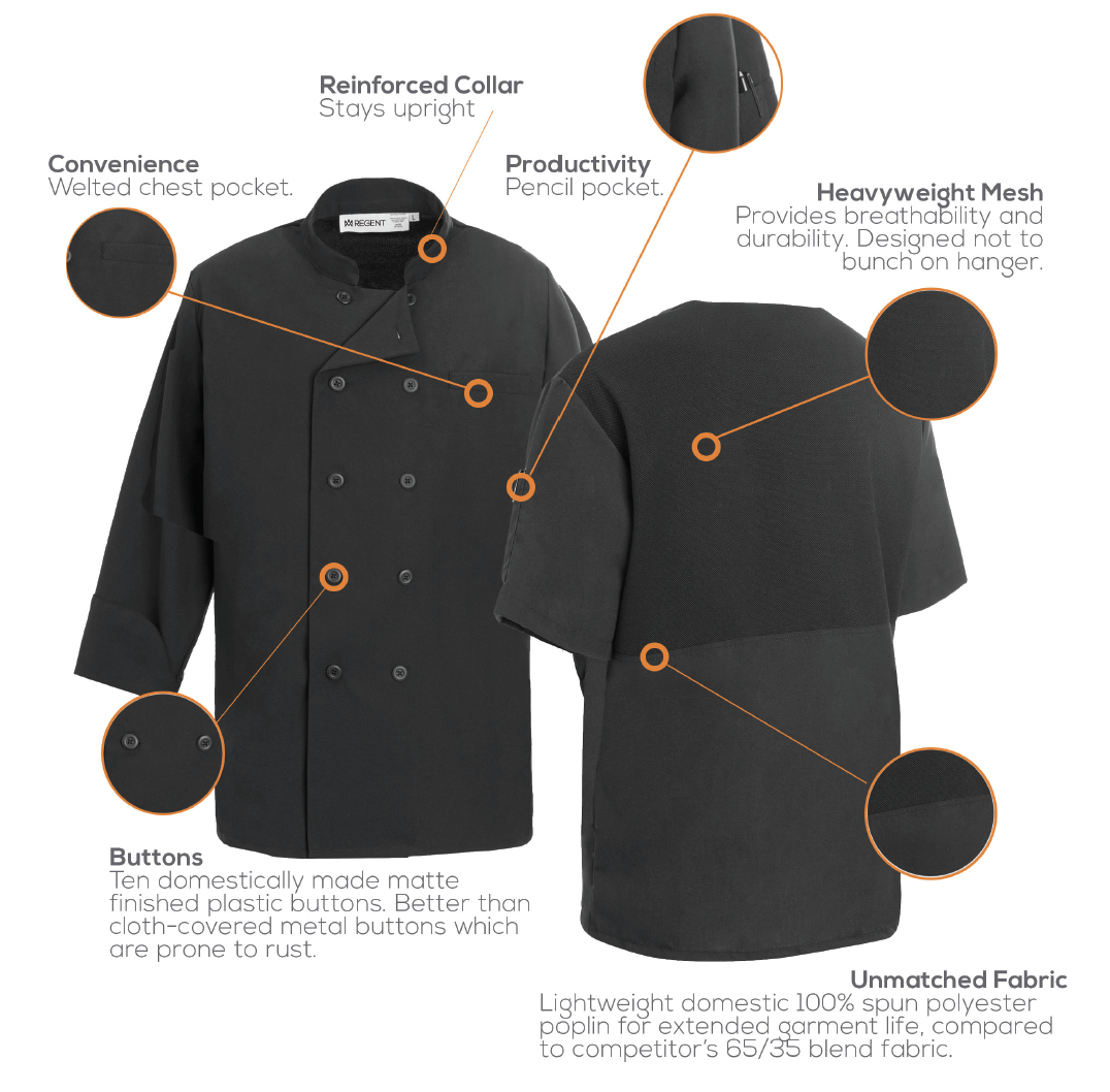 The secret to keeping cool in the kitchen: Mesh Chef Coats