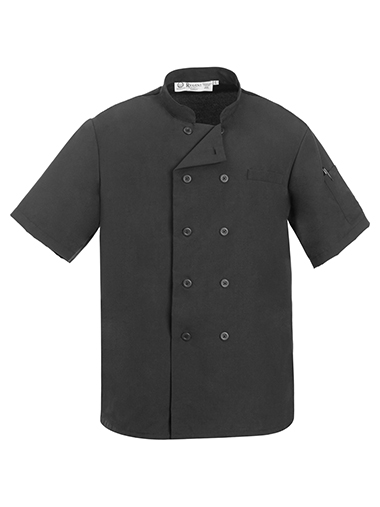 Black Mesh Back Chef Coat