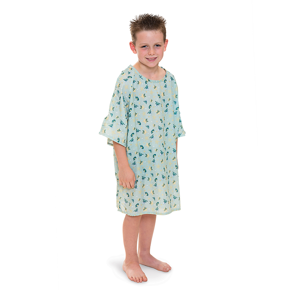 All-Star's Woven Flame-Out® Patient Gowns in Frog-E Green