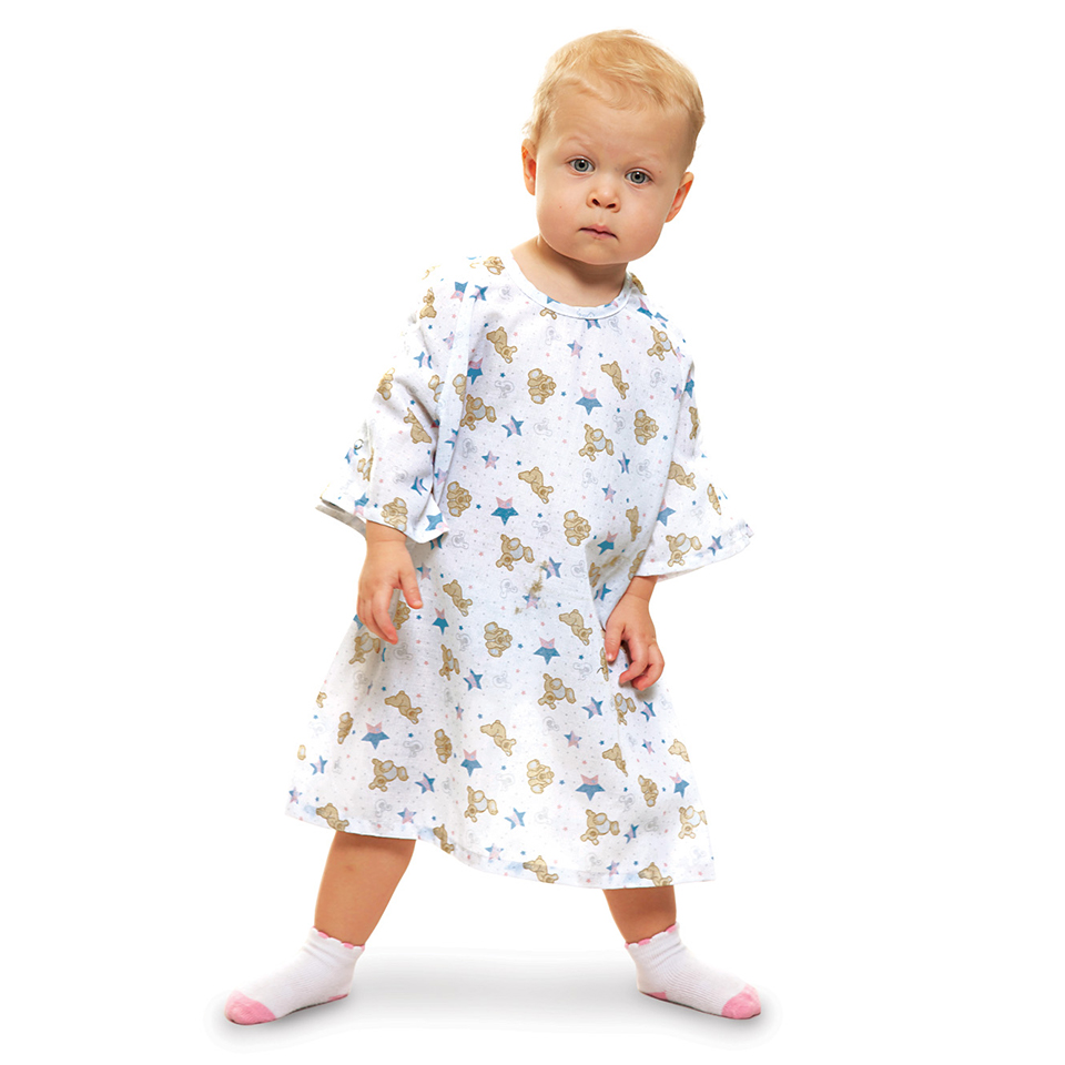 All-Star's Woven Flame-Out® Patient Gowns in Ted-E White