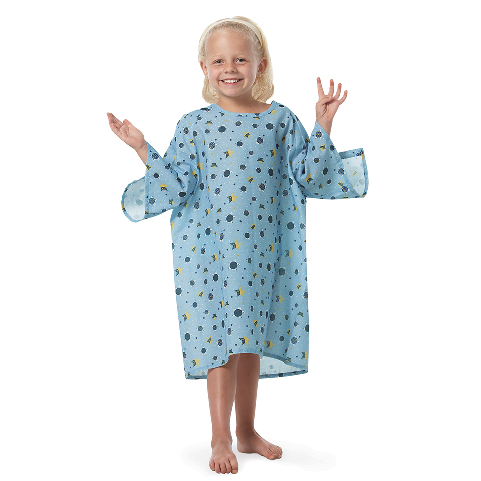 All-Star's Woven Flame-Out® Patient Gowns in Turt-L Blue