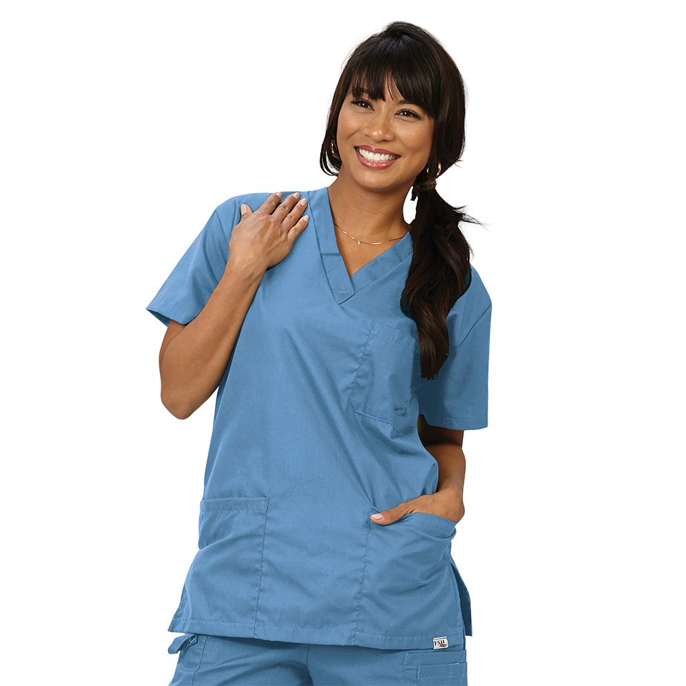 Unisex V-Neck 3-Pocket Scrub Shirt