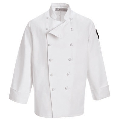 European Knot Button Chef Coat