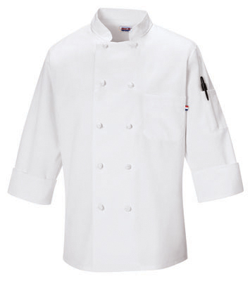Morgan Knot Button Chef Coat