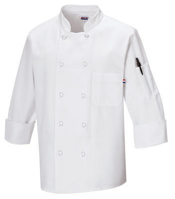 Morgan Pearl Button Chef Coat